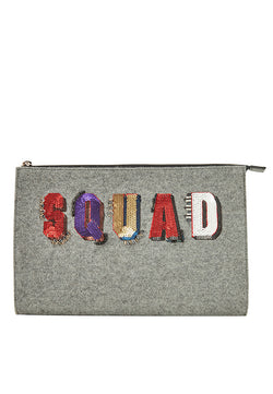 SQUAD Velvet Clutch Bag - MY FLASH TRASH