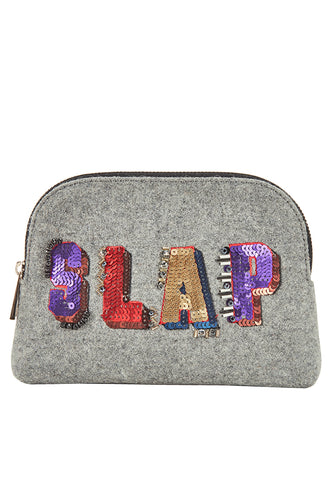 SLAP Velvet Cosmetic  Bag - MY FLASH TRASH