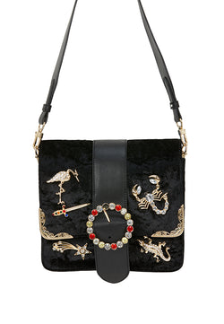 Baroque Animal Charm Boxy Bag - MY FLASH TRASH