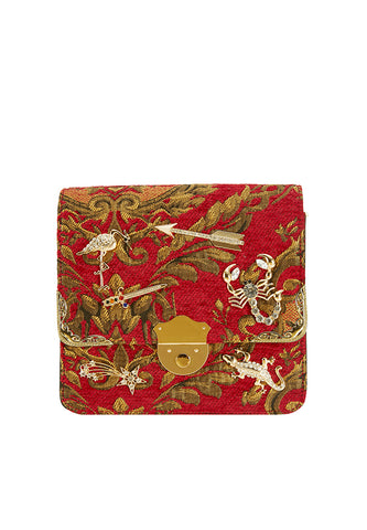 Charms Red Baroque Boxy Bag - MY FLASH TRASH