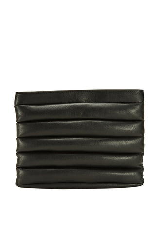 Quilted Black Clutch Bag - MY FLASH TRASH
