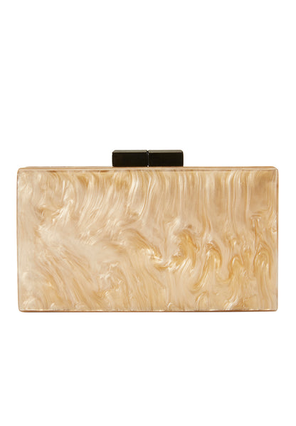 Rose Gold Marble Clutch Box - MY FLASH TRASH