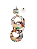 Channel multi marble drop earring - MY FLASH TRASH