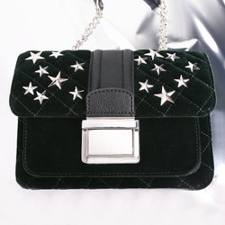 Star Stud Qulited Chain Cross Body Bag - MY FLASH TRASH