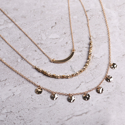 Three layers necklace