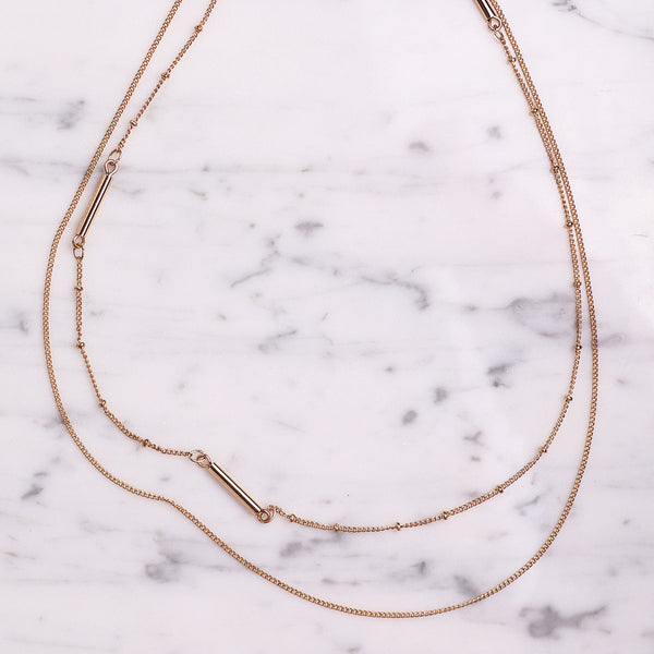 Double Layers necklace