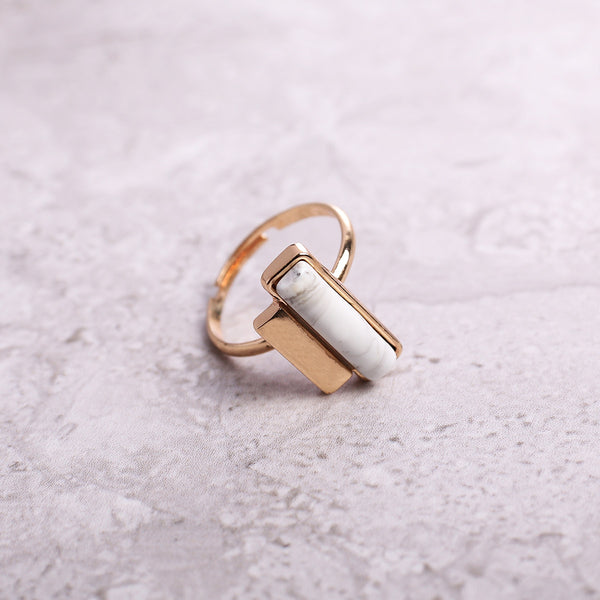 Rectangular stone ring - MY FLASH TRASH