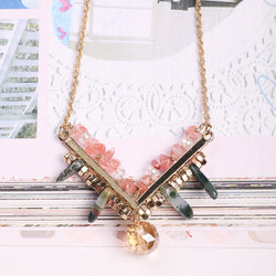 Triangle Romance Pendant Necklace
