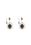Geo Tiger Eye Drop Earring - MY FLASH TRASH
