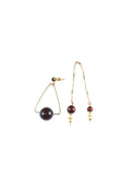 Geo Tiger Eye Mis- Match Earring - MY FLASH TRASH