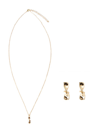Twisted Necklace w/ Earring Set