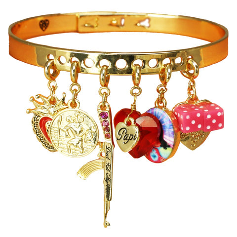 chola girl charm bangle set