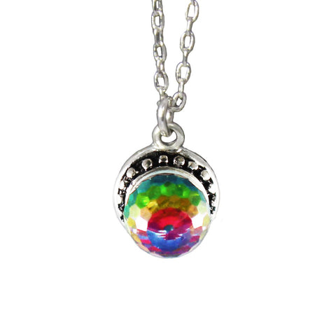 crystal ball charm necklace - MY FLASH TRASH