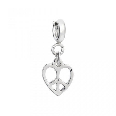 peace heart charm - MY FLASH TRASH