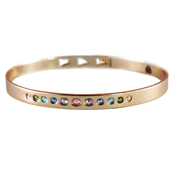 #charmgang rose gold crystal bangle