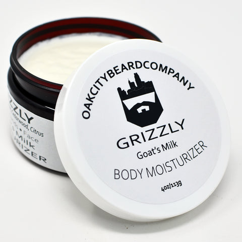 Grizzly (Goat's Milk Body Moisturizer) by Oak City Beard Company