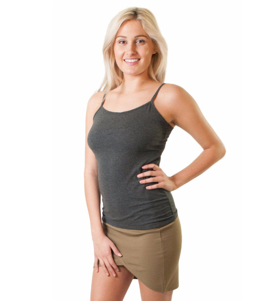 WOMEN'S ADJUSTABLE STRAP CAMI TANK