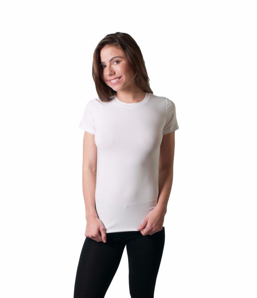WOMEN'S FITTED CREW NECK