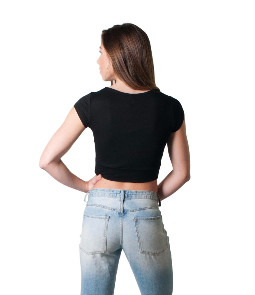 WOMEN'S TWISTED CROP TOP