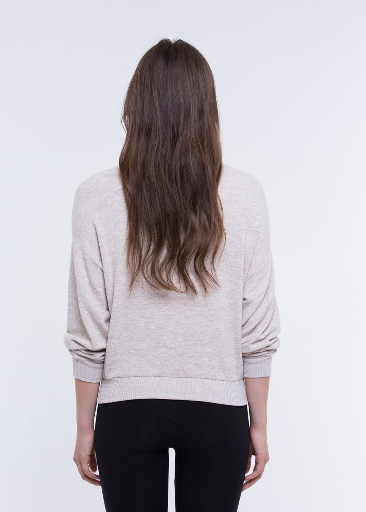 DOLMAN BOAT NECK FAUX CASHMERE SWEATER