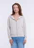 WOMEN'S FAUX CASHMERE ZIP-UP HOODIE