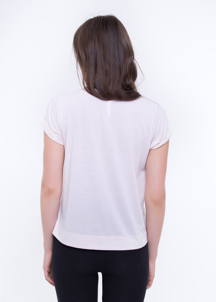WOMEN'S RECYCLED ROLLED UP TEE