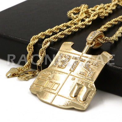 K-Pop BTS DNA Army Your Concert Bulletproof Vest Pendant w/ 4mm Rope Chain G - Raonhazae