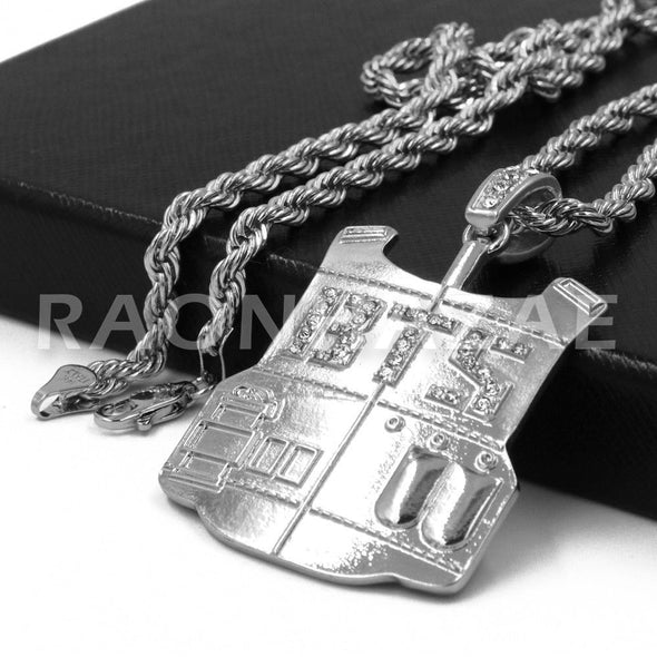 BTS Army Vest Pendant w/ 4mm Rope Chain - Raonhazae