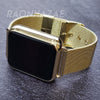 YIZZY Digital Smart Watch Touch Screen Metallic Mash Band Square Gold Watch GM03 - Raonhazae