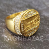 MEN Iced RING 316L STAINLESS STEEL THE LAST SUPPER GOLD / SILVER TONE CZ BLING RING - Raonhazae