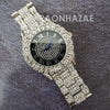 Raonhazae Hip Hop Iced Lab Diamond 14K White Gold Plated Watch with Stone - Raonhazae