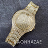 Raonhazae Hip Hop Iced Lab Diamond 14K  Gold Plated Watch with Stone - Raonhazae