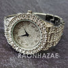 Raonhazae Hip Hop FULLY Iced Lab Diamond 14K White Gold Plated Watch with Bling Blingz - Raonhazae