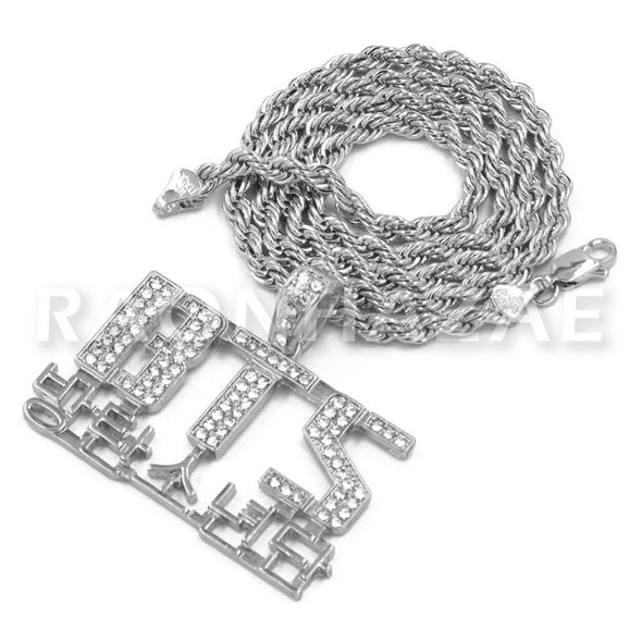 BTS Army Concert Korean Lettered Pendant w/ 4mm Rope Chain - Raonhazae