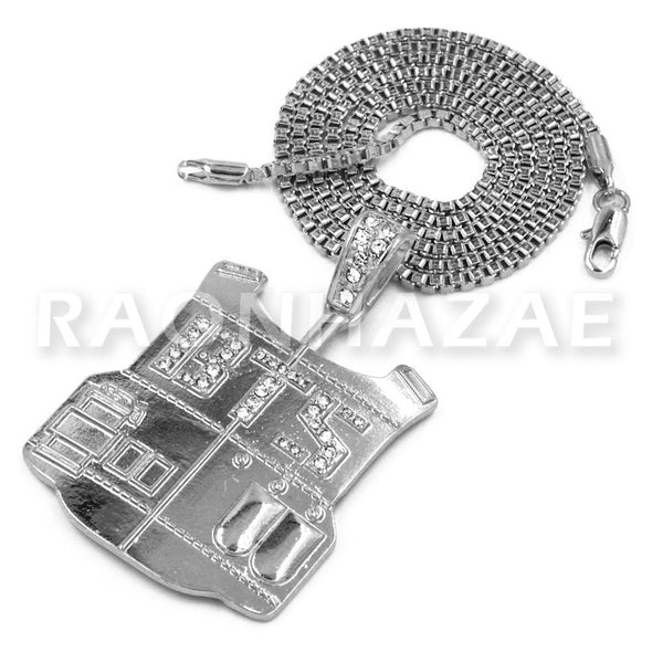 BTS Army Vest Pendant w/ 2mm Box Chain - Raonhazae