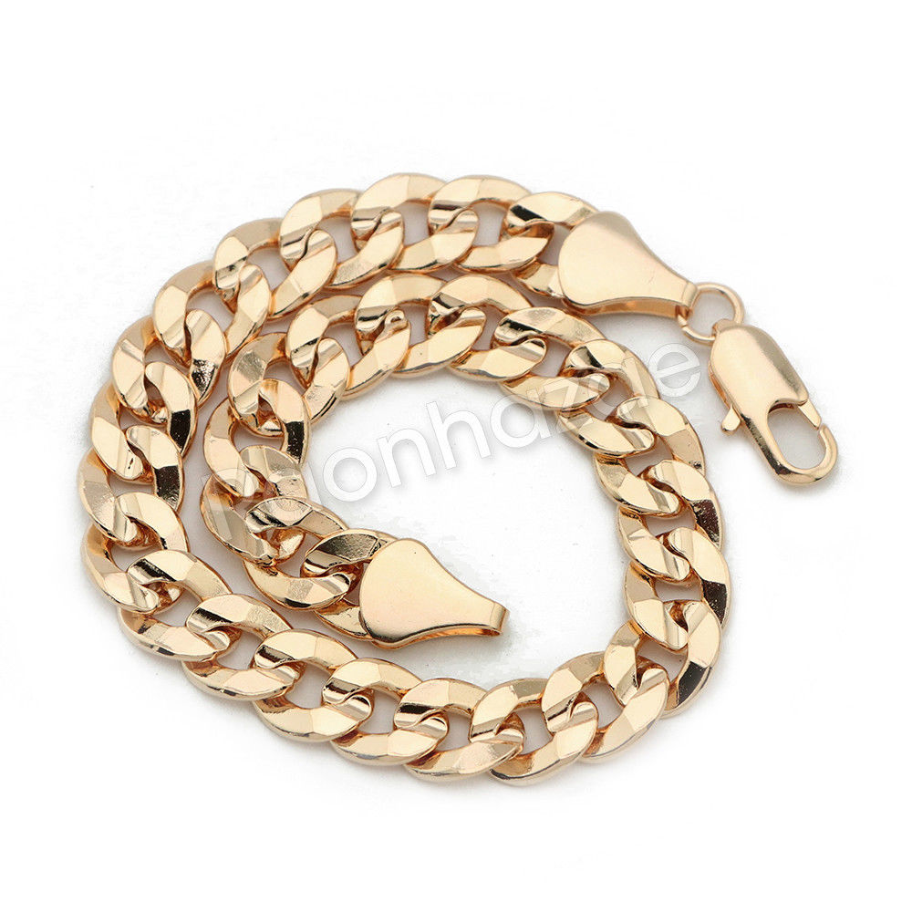 image double hollow new curb cut bracelet diamond gold link jewellery