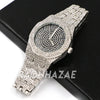 Raonhazae Men's Black/ White Gold Simulated Hip Hop Iced Bezel Watch - G06 - Raonhazae