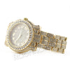 Hip Hop 14K Gold Simulated Diamond Watch F47 - Raonhazae