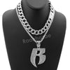Hip Hop Quavo RUFF RYDERS Miami Cuban Choker Tennis Chain Necklace L17 - Raonhazae