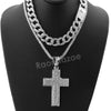 Hip Hop Quavo Cross Miami Cuban Choker Chain Tennis Necklace L26 - Raonhazae