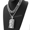 Hip Hop Quavo Jesus Face Miami Cuban Choker Chain Tennis Necklace L27 - Raonhazae