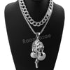 Hip Hop Quavo PRAYING HANDS Miami Cuban Choker Chain Tennis Necklace L42 - Raonhazae