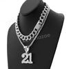Hip Hop Quavo 21 SAVAGE Miami Cuban Choker Tennis Chain Necklace L21 - Raonhazae