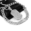 Hip Hop Quavo DOG TAG Miami Cuban Choker Tennis Chain Necklace L30 - Raonhazae