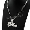 Italian .925 Sterling Silver RUFF RYDERS Pendant 5mm Figaro Necklace S09