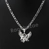 Italian .925 Sterling Silver EAGLE Pendant 5mm Figaro Necklace S05