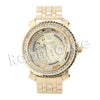 HIP HOP RAONHAZAE MIGOS LUXURY GOLD FINISHED LAB DIAMOND WATCH - Raonhazae