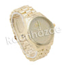 HIP HOP RAONHAZAE JEEZY LUXURY GOLD FINISHED LAB DIAMOND WATCH - Raonhazae