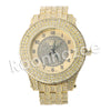 HIP HOP RAONHAZAE BREEZY LUXURY GOLD FINISHED LAB DIAMOND WATCH - Raonhazae