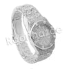 HIPHOP ICED OUT RAONHAZAE SILVER LAB DIAMOND WATCH MIAMI CUBAN CHAIN SX3 - Raonhazae